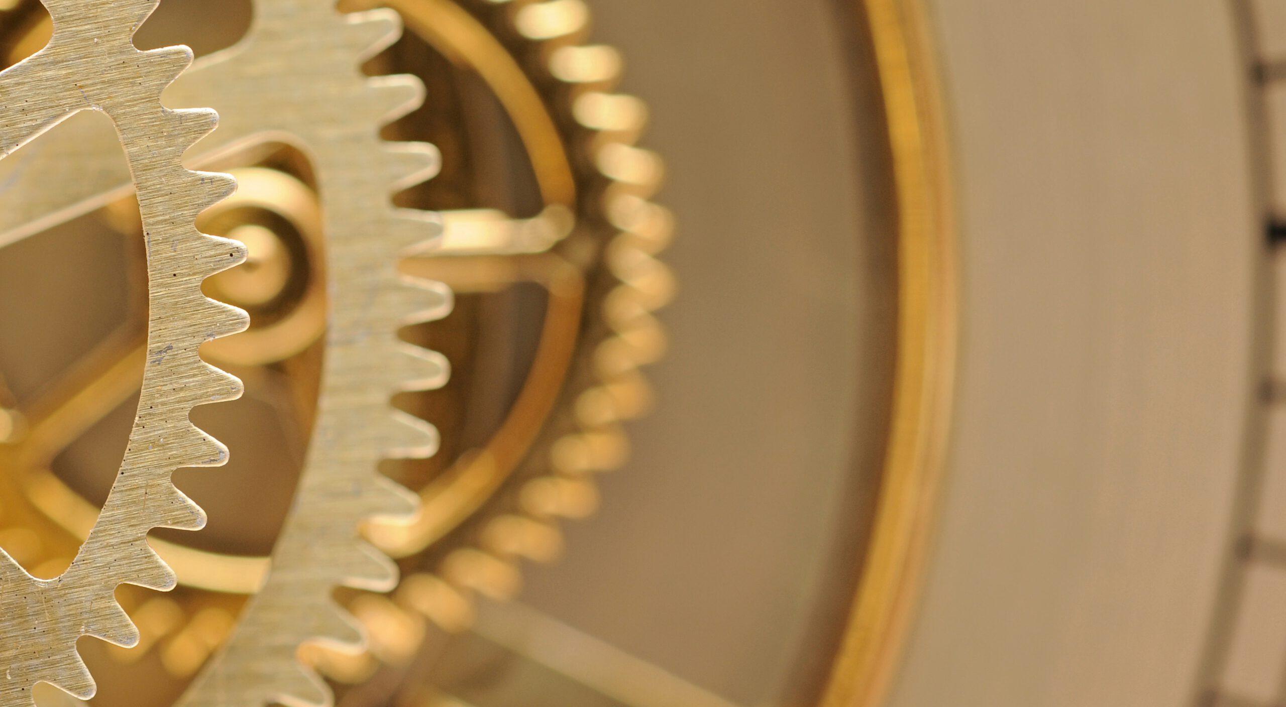 goldenes Uhrwerk