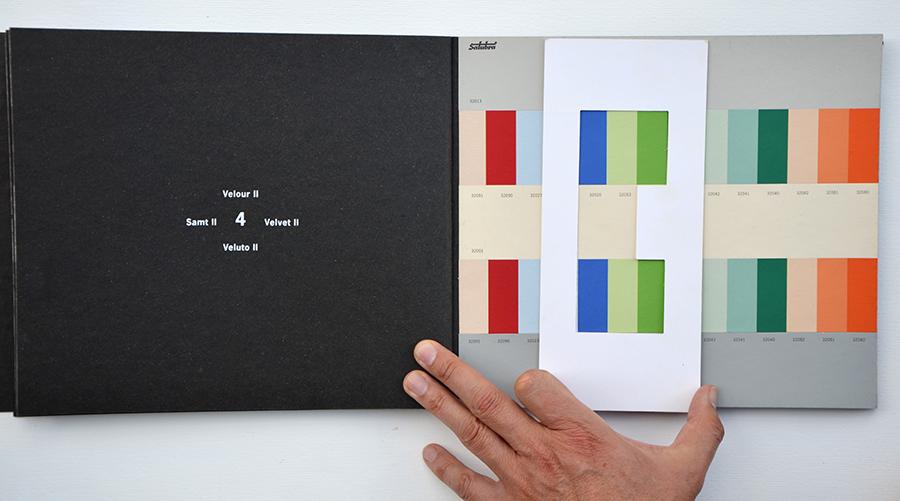 Bild Farbsammlung Polychromie Architecturale von Le Corbusier, Foto Axel Buether